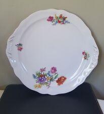Vintage Czechoslovakia Porcelain Floral Cake/Sandwich Plate
