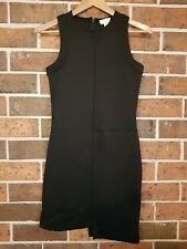 WITCHERY Black Uneven Hem Dress Size 8