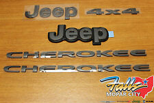 2014-2016 Jeep Cherokee Grey Full Emblem Nameplate Set Mopar OEM