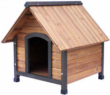 Precision Pet Products Dog House Outback Small Country Lodge Weatherproof Wood