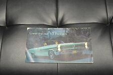 1963 Come See Our '63 Pontiacs Sales Literature Book Ad Dealer Catalog
