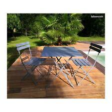 Ensemble table de jardin et 2 chaises bistrot