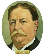 Vtg President William H. Taft Die Cut Face Paper Wall Decoration New Old Stock