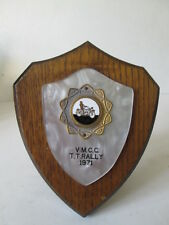TT rally plaque VMCC plaque.. Motorsport tankard. rally award.