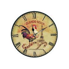 Pendule Horloge Murale Coq Le Glands Doux Henri Lecoq J-B Bargoin Rétro