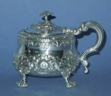 More details for silver mustard pot 9.4oz  very heavy.  geo.iv  london 1822  samuel witford ii