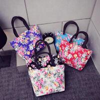 Fashion Women Printing Canvas Bah Handbag Messenger Shoulder Tote Shopping Bag
