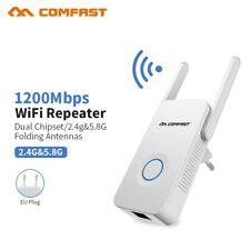 Repetidor WiFi 5GHz / 2.4GHz Amplificador WiFi 1200Mbps Repetidor Señal WiFi
