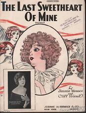 1924 Jimmie Monaco & Cliff Friend Sheet Music (The Last Sweetheart of Mine)
