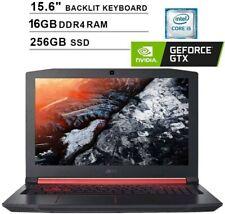 "Acer Nitro 5 15.6"" Intel i5-8300H/16GB/256GB SSD GTX 1050Ti Gaming Laptop Bundle"