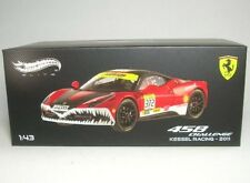 Hot Wheels Modellino Auto Elite Ferrari 458 Challenge Kessel Racing Scala 1 43