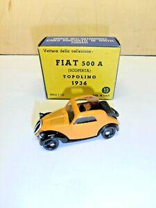 """DUGU 1/43 ART.13 AUTO """"FIAT 500A TOPOLINO """" BOX ORIGINALE MEDIOCRI CONDIZIONI"""