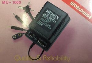 MEMEX MU-1000 MA Universal AC/DC Adapter 1.5-3-4.5-6-6.5 9-12V