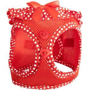 American River Red & Polka Dots Choke-Free Dog Harness -  XS-S-M-L-XL
