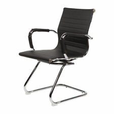 CosmoLiving Cantilever Office Boardroom Desk Chair Chrome Frame with PU Leather