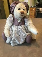"The Ganz Cottage 1999 Jointed Plush Bear Lilac and Lace 15"" Tall by Lorraine"