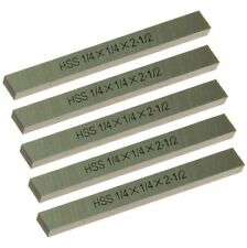 "5 pc HSS Square Tool Bit High Speed Steel M2 1/4"" x 2-1/2"" for Lathe Fly Cutter"