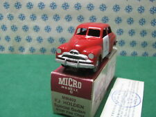 """Vintage  Micro Models -  HOLDEN  FJ  special  """" Fire Chief """"   MM402   -   MIB"""