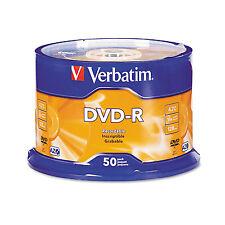 Verbatim DVD-R Discs 4.7GB 16x Spindle Silver 50/Pack 95101