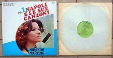 MIRANDA MARTINO DISCO LP 33 GIRI NAPOLI E LE SUE CANZONI VOL. 1 RCA TCL1 1035