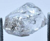 6.70 Ct Rare Herkimer Diamond Water Clear Quartz Crystal Anthraxolite Rough