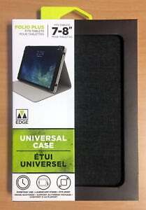 """Folio Universal Case for 7-8"""" Tablets Landscape Stand M-Edge Heather Grey"""