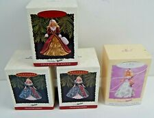 Hallmark Keepsake Ornament Holiday / Springtime Barbie Ornaments Lot Of 4