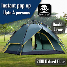 Double Layer Pop Up Camping Camp Tent Up to 4 Person Outdoor Waterproof Shelter