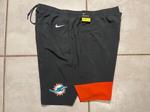 NWT NIKE Dri-Fit Miami Dolphins NFL On Field Shorts Men's 3XL