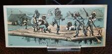 "Vintage 1880s Blank Trade Card - Black Americana ""on the o high o"" raft on Ohio"