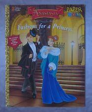 Anastasia Fashions for a Princess paper dolls Golden Books 1997 Dimitri Pooka