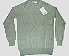 "Glen Oak Crew Neck 2 ply pure cashmere pullover sweater pullover top 34"" Green"