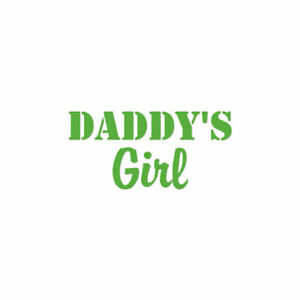 Daddy's Girl - Vinyl Decal Sticker - Multiple Color & Sizes - ebn1616
