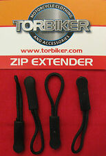 4 ZIPPER ZIP TAG PULLER EXTENDER FITS BAGSTER GIVI KRIEGA OGIO ICON RICHA OXFORD