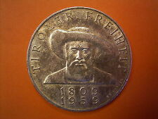 1959 Chelín Austríaco Moneda de plata conmemorativa número 50-Liberación del Tirol