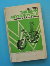 1960s-70s Triumph Motorcycle Service Manual Book TR25 T100 TR6 T120 T150