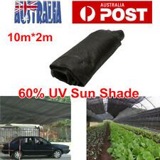 60% UV Sun Shade Cloth Shadecloth Sail Roll Mesh Garden Outdoor Black 2X10m