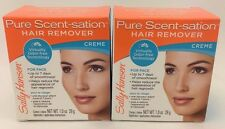 Sally Hansen Pure Scent-Sation Hair Remover Cream For Face 1.0 Oz *Twin Pack*
