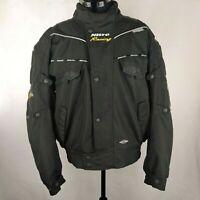 MotoDry Nitro Racing Men's Motorcycle Black Jacket 3M Dry-Tec Sz M