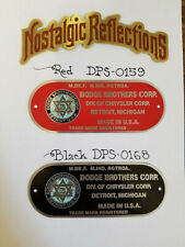 Dodge Brothers Firewall data plate COLOR logo acid etched aluminum CHOICE