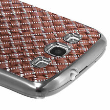 For Samsung Galaxy S III 3 HARD Case Snap On Phone Cover Vermilion Plaid Plating