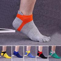 FJ- MEN's Breathable 100% Cotton Five finger toe socks leisure