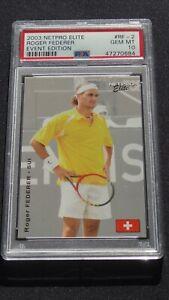 2003 Netpro Elite Event Edition Roger Federer ROOKIE PSA 10 rare yellow shirt RC