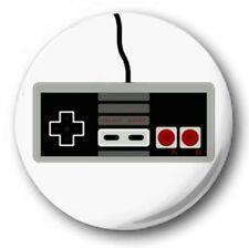 1 inch / 25mm Button Badge - NES CONTROLLER design - Retro Mario Nintendo D-Pad