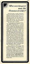 Quarzlampen-Gesellschaft Hanau-Mainz  Historische Reklame von 1930