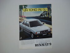 advertising Pubblicità 1983 RENAULT 9