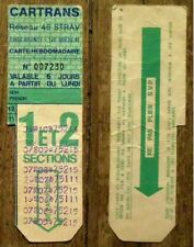 Ancien ticket bus Cartrans,Brunoy,Reseau 45 STRAV,carte hebdomadaire