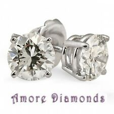 6.82 ct GIA G color Internally Flawles clarity round diamond stud platinum screw