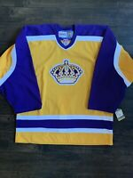 LOS ANGELES KINGS AUTHENTIC VINTAGE GOLD CCM HOCKEY JERSEY SIZE 50