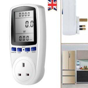 Power Consumption Meter UK Plug Electricity Energy Monitor Watt Analyzer 3 Pin
